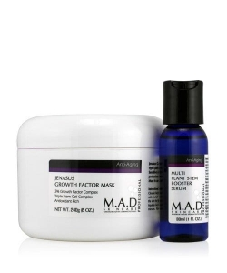 M.A.D Anti-Aging Jenasus Growth Factor Mask Maska dla skór dojrzałych 240g + Booster Serum 30ml